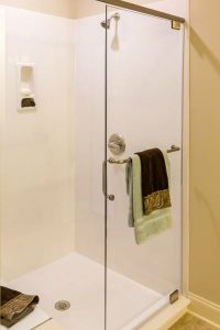 Clear Glass Frameless Shower in new home
