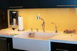 Increase Your Kitchen's Style With A Painted Glass Backsplash1